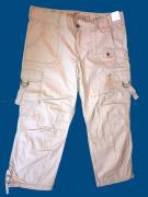 Dámské 3/4 plátěné kalhoty béžová