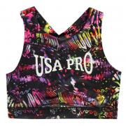 USA Pro Long Crop Top Junior Girls Butterfly