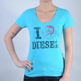 Dámské triko Diesel modrá Velikost - 10 (S)