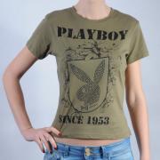 Dámské triko Playboy zelená