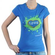 Dámské triko Pink by Victoria Secret modrá