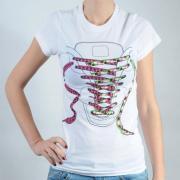 Dámské triko Public Domain bílá