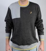 Pánský svetr Propeller černá/šedá/žlutá