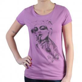 Dámské triko Tom Tailor fialová