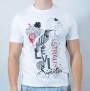 Pánské triko Levi Strauss bílá