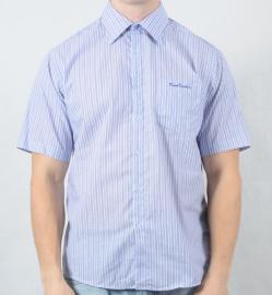 Pánská košile Pierre Cardin fialová/šedá