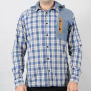 Pánská košile s kapucí 883 Police modrá/bílá/černá