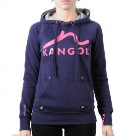Dámská mikina s kapucí Kangol fialová