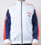 Pánská bunda Track and Field bílá/modrá/červená
