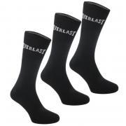 Ponožky Everlast 3 Pack Crew Socks Black