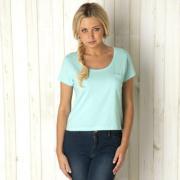 Dámské tričko Brave Soul Crop - modré