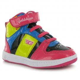 Golddigga Kick Hi Top Childrens Trainers Barevné