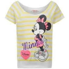 Dětské tričko Disney Minnie- Bílé/Žluté