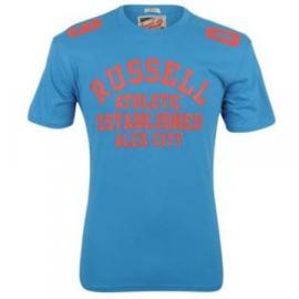 Pánské triko Russell Athletic s potiskem - Modré