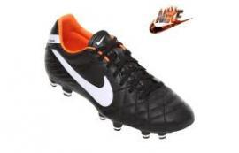 Pánské fotbalové kopačky Nike Tiem Mystic4 FG - černo/bílo/oranžové