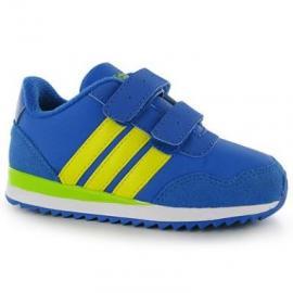 Dětské sportovní boty Adidas Jogger - modro/žluté na suchý zip