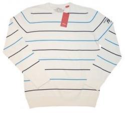 Pánský pullover S.Oliver - bílý s pruhy