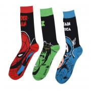 Ponožky Marvel 3 Pack Crew Socks Mens Marvel