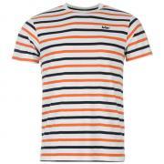 Pánské triko Lee Cooper Wht/Navy/Orange