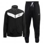 Donnay Poly Tracksuit Mens Blk/Char/Wht
