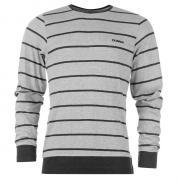Donnay Striped Long Sleeve Tričko Pánské Grey M/Char M