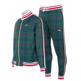 Lonsdale Gentlemen Tracksuit Mens Green Check