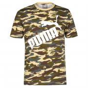 Tričko Puma Camo Logo QT T Shirt Mens Black/Camo