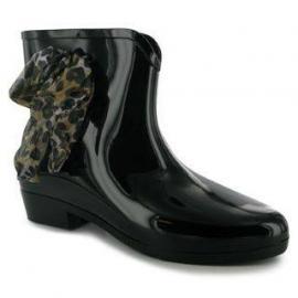 Boty Golddigga Croc Welly Ladies Black