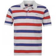 Pánské tričko Lonsdale- Bílá/Modrá/Červená