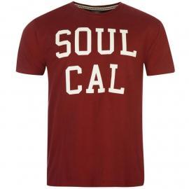 Tričko SoulCal Logo T Shirt Mens Burgundy