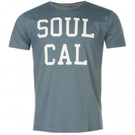 Tričko SoulCal Logo T Shirt Mens Blue Mirage